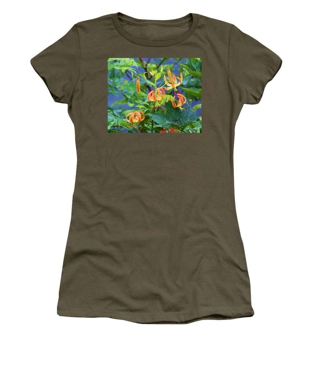 Flowers Women's T-Shirt featuring the photograph Country Flowers by Chuck Hicks