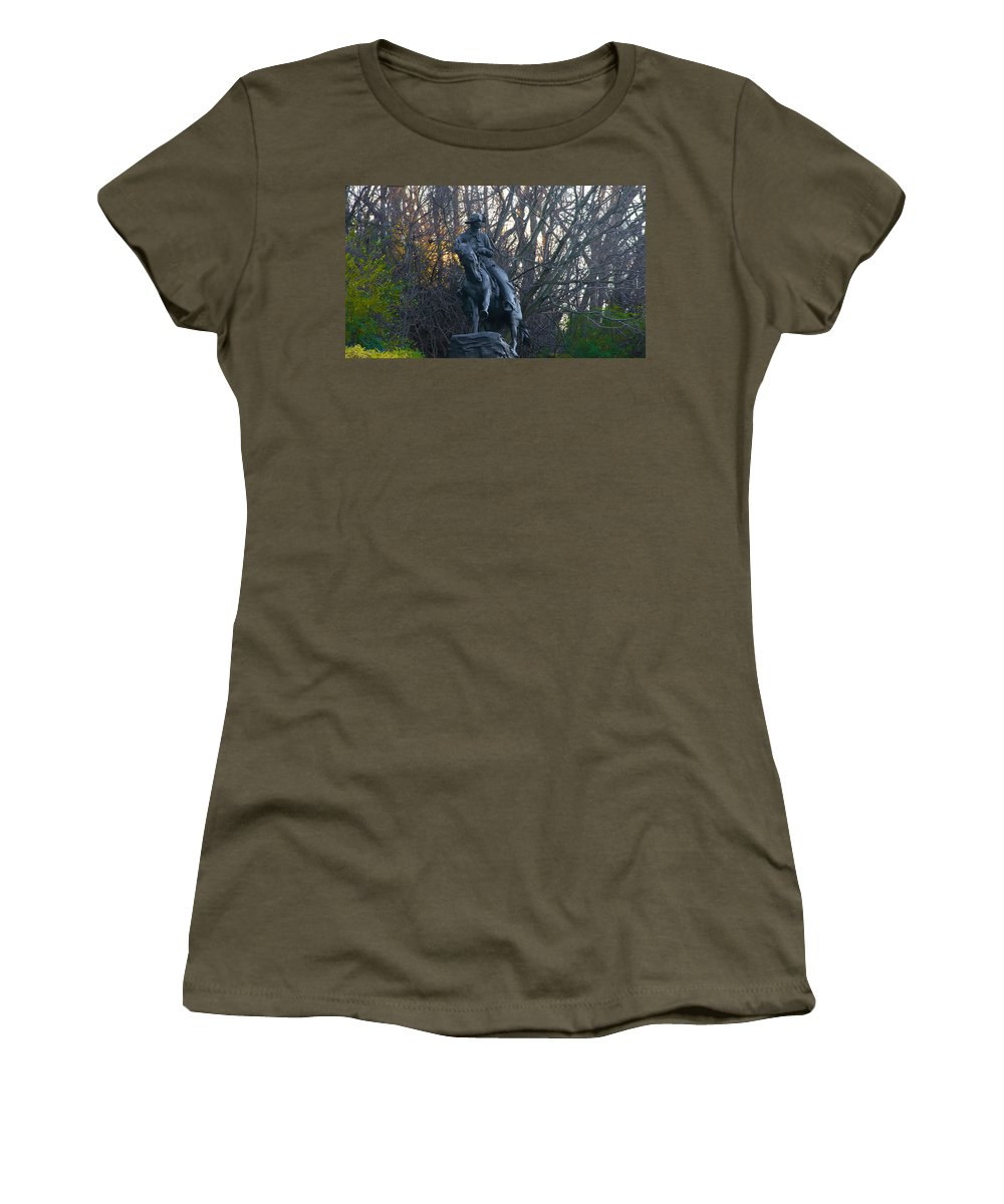 Cowboy Women's T-Shirt featuring the photograph Cowboy 1908 By Frederic Remington by Bill Cannon