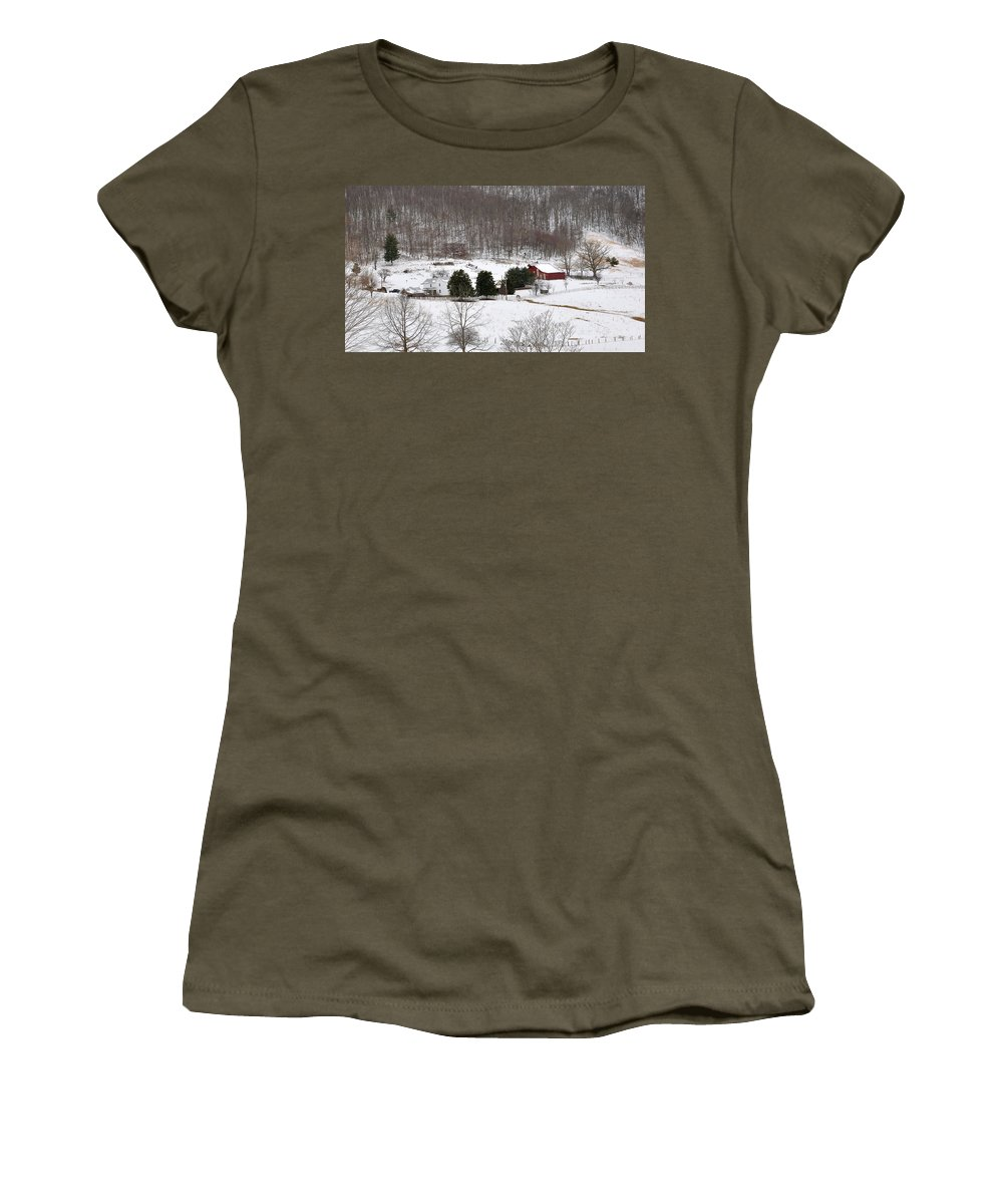 Craig County Farm Women's T-Shirt (Athletic Fit) featuring the photograph Craig County Farm by Todd Hostetter