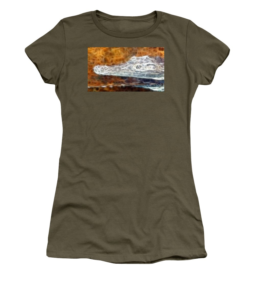 Gator Women's T-Shirt featuring the photograph Crazy Gator by Doc Braham