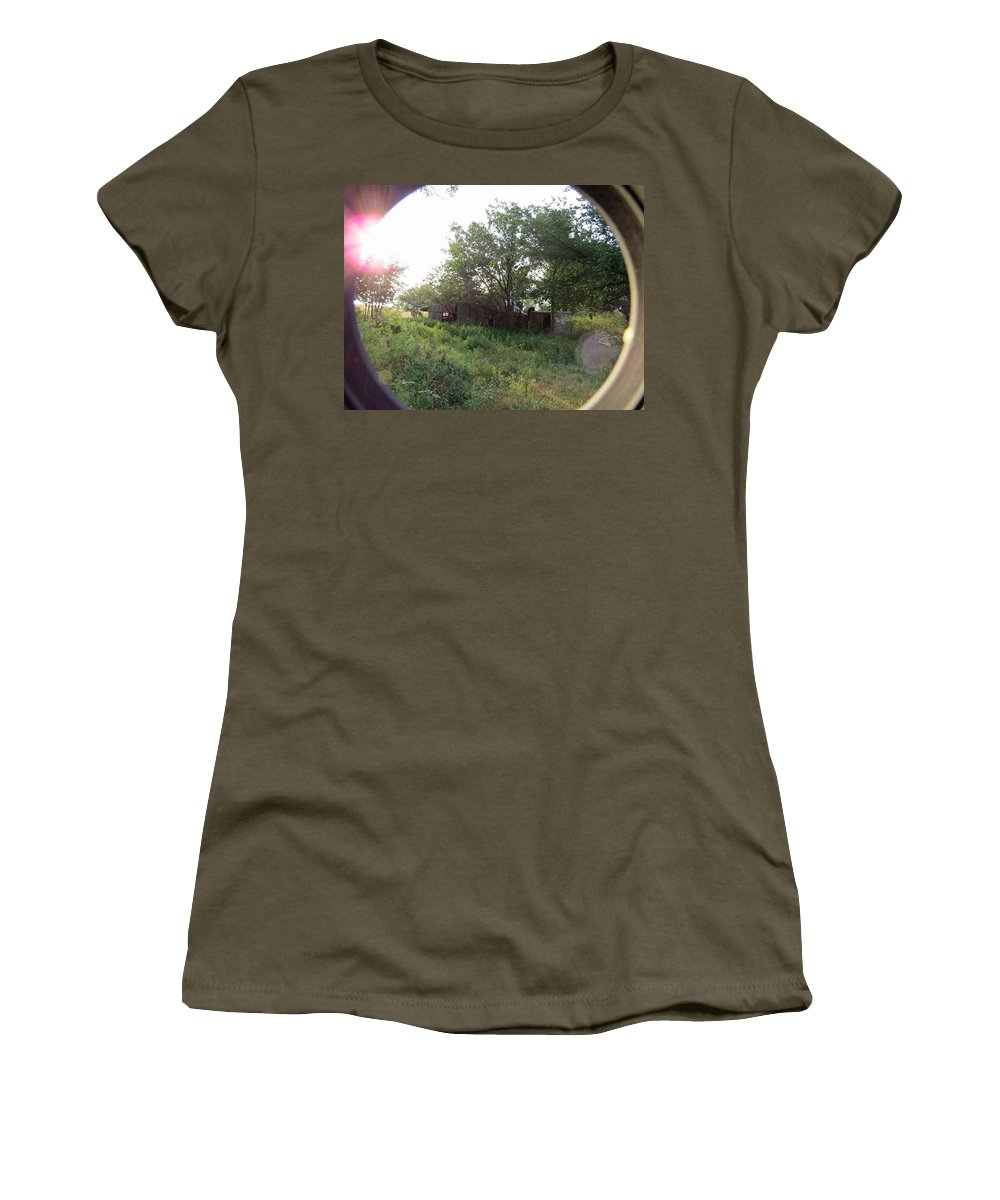 Outdoor Women's T-Shirt featuring the photograph Crazy View by Aaron Martens