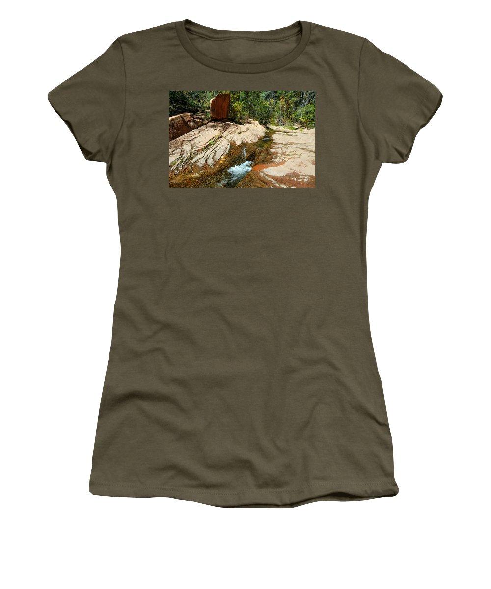 Creek Women's T-Shirt featuring the photograph Creek Crossing by Tam Ryan