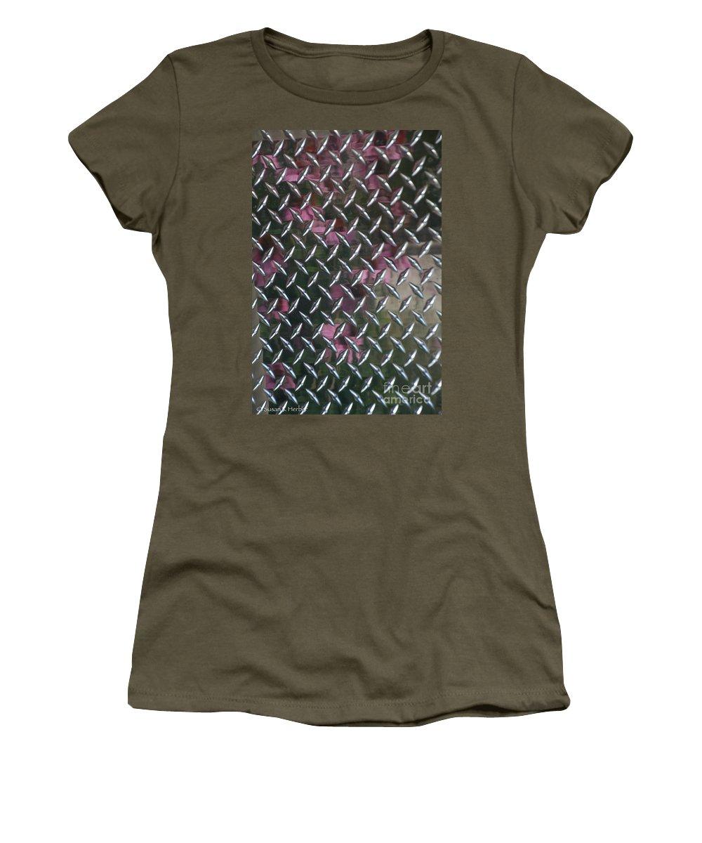 Aluminium Women's T-Shirt featuring the photograph Cross Hatch by Susan Herber