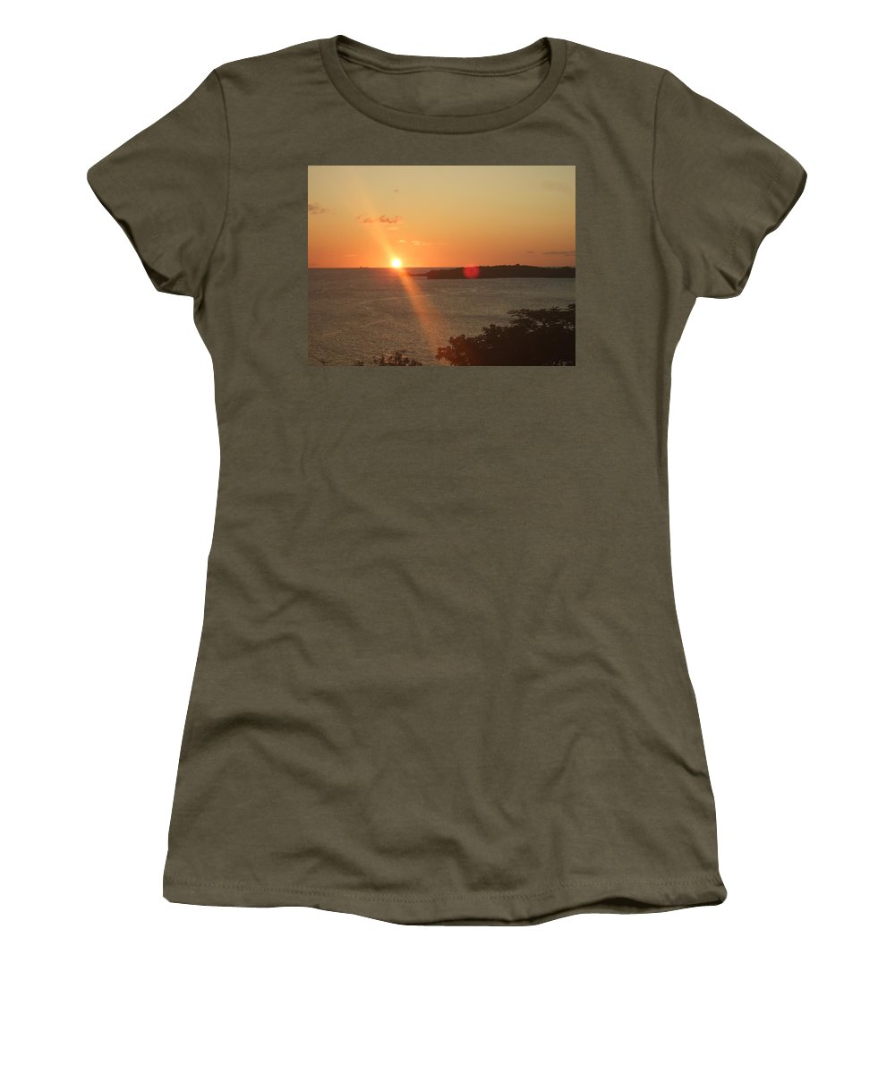 Women's T-Shirt (Athletic Fit) featuring the photograph Cruise Into The Sun by Katerina Naumenko