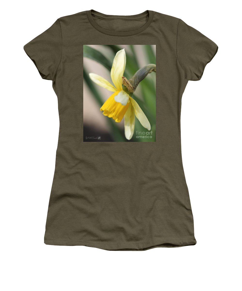 Mccombie Women's T-Shirt featuring the photograph Cyclamineus Daffodil Named Jack Snipe by J McCombie