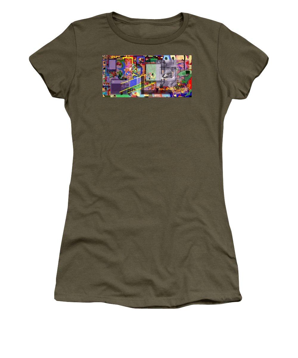 Daas Women's T-Shirt featuring the digital art Daas 18 O by David Baruch Wolk