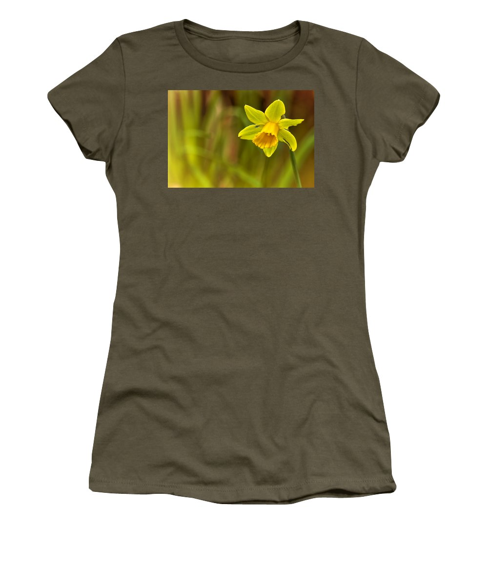 Daffodil Women's T-Shirt featuring the photograph Daffodil - No. 1 by Belinda Greb