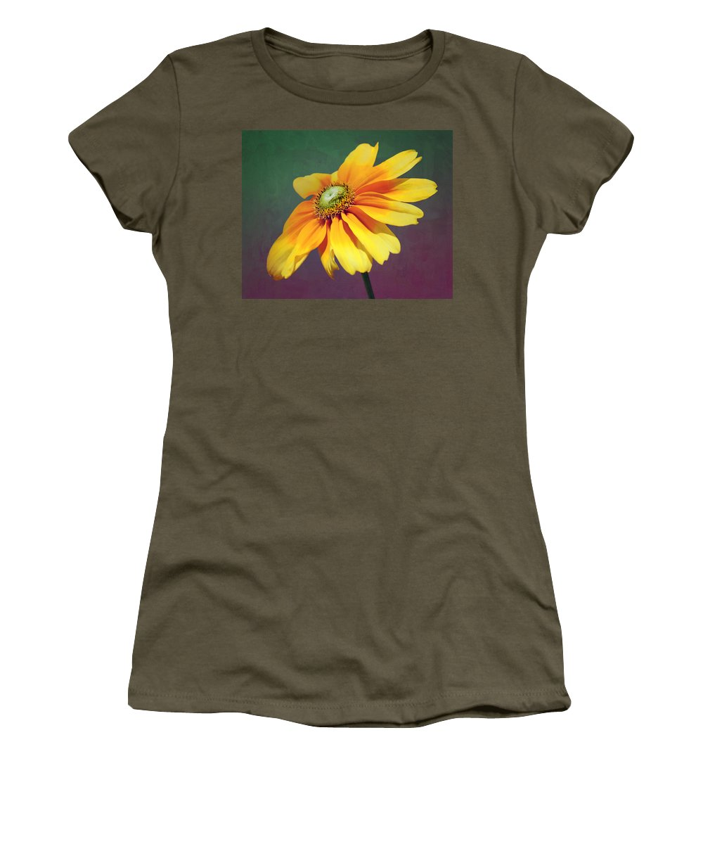 Flower Women's T-Shirt featuring the photograph Daisy Visitor by Nikolyn McDonald