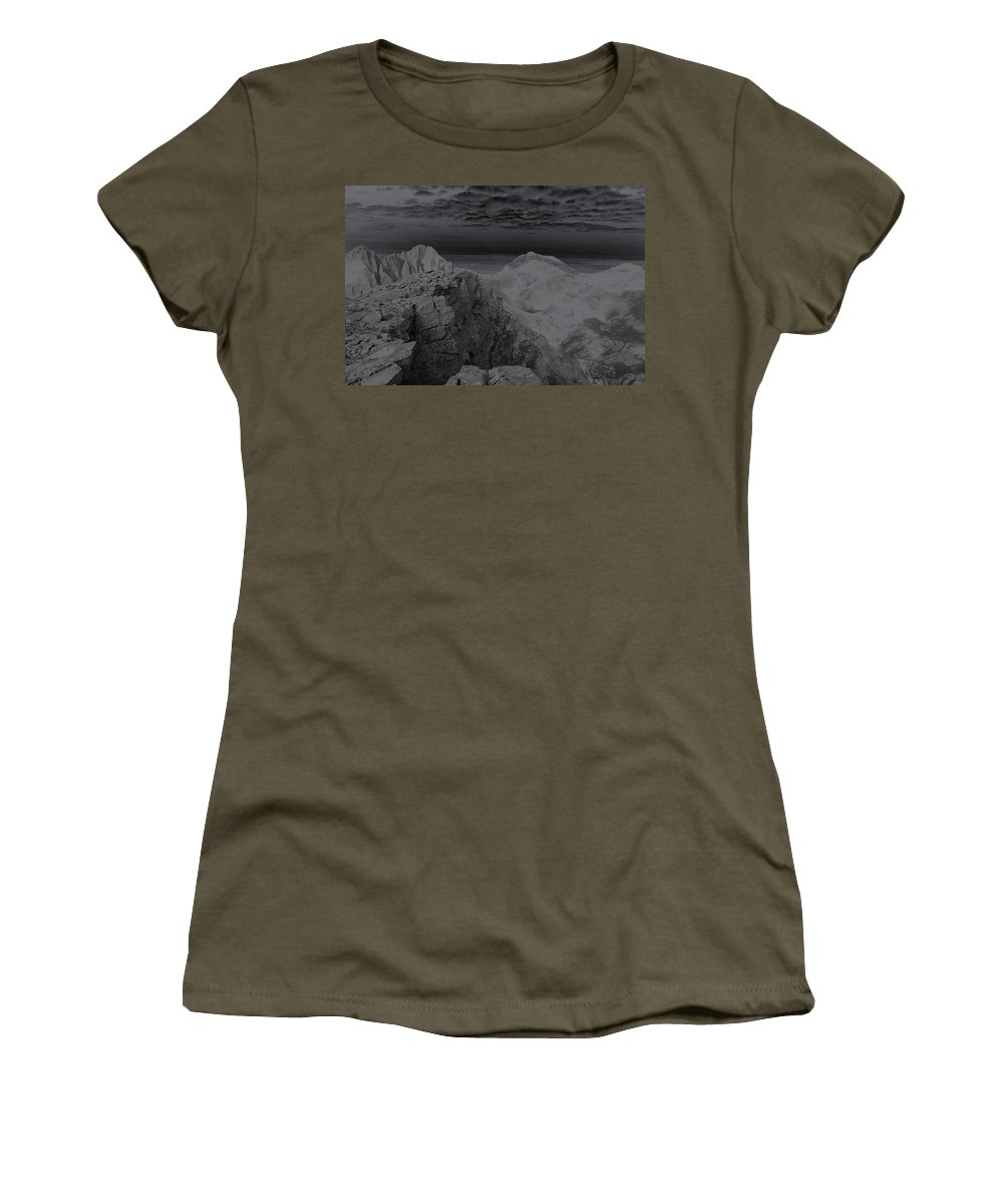 Landscapes Women's T-Shirt (Athletic Fit) featuring the photograph Dark Planet by Jeremy Rhoades