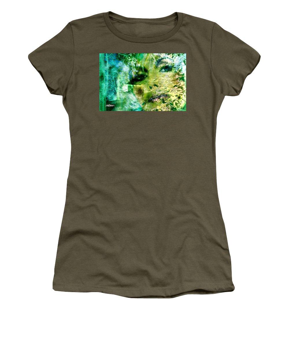 Deep Woods Wanderings Women's T-Shirt (Athletic Fit) featuring the digital art Deep Woods Wanderings by Seth Weaver