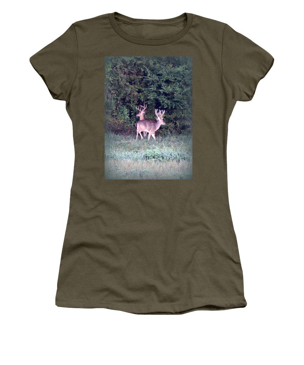 Deer Women's T-Shirt featuring the photograph Deer-img-0177-001 by Travis Truelove
