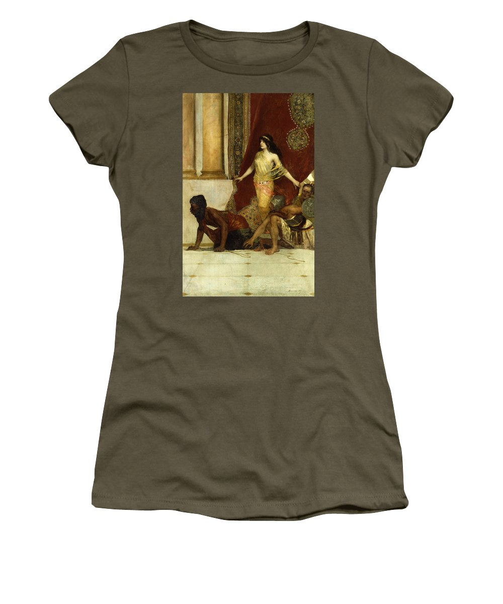 Constant Women's T-Shirt featuring the painting Delilah And The Philistines by Jean Joseph Benjamin Constant