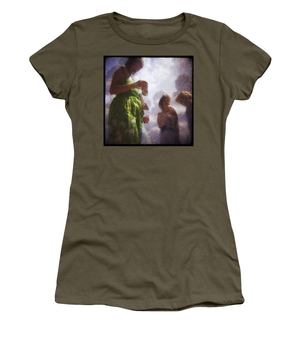 Kentucky Derby Women's T-Shirt featuring the photograph Derby People 1 Water Color 1 by David Lange