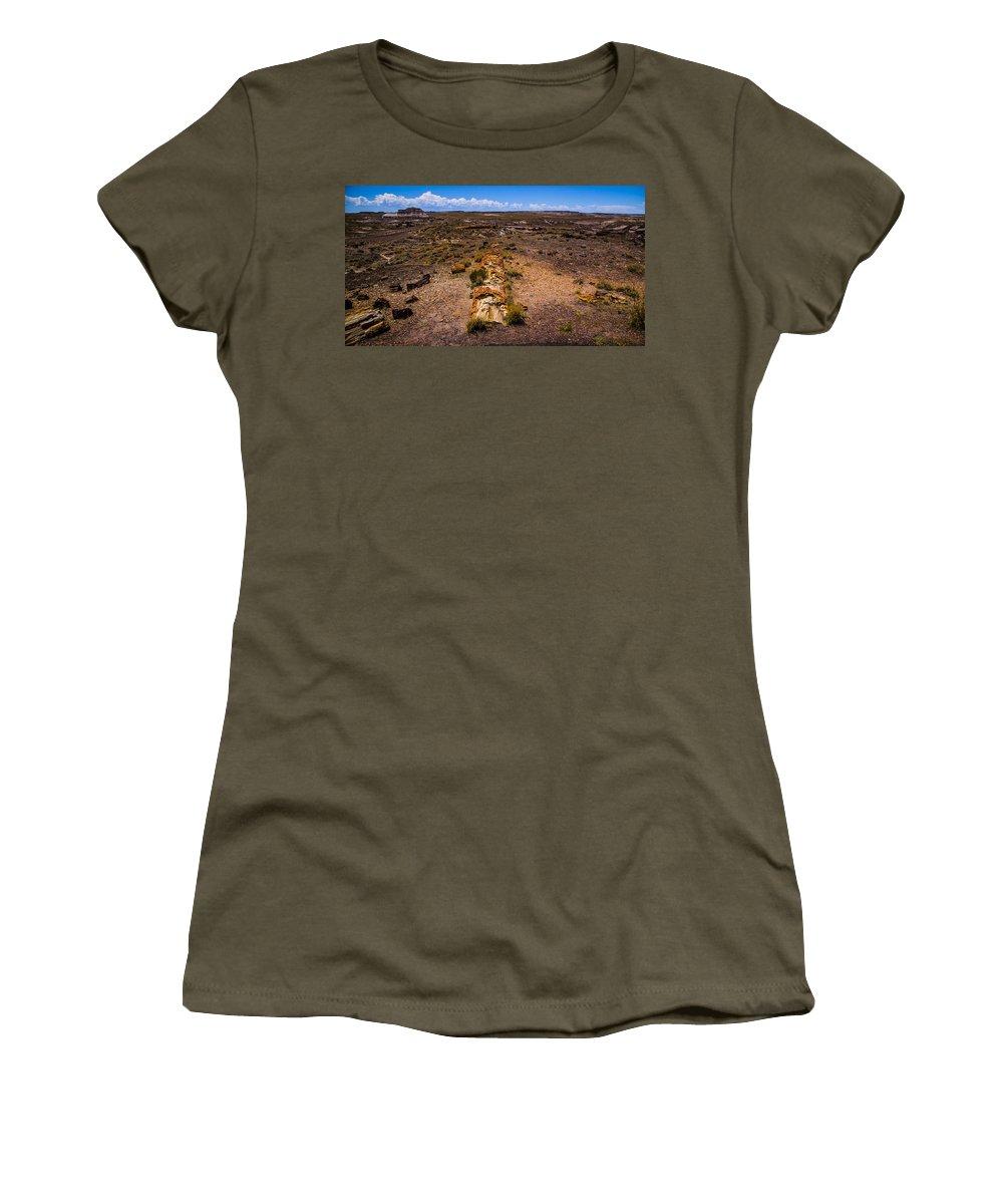 Route 66 Women's T-Shirt featuring the photograph Desert Log by Angus Hooper Iii