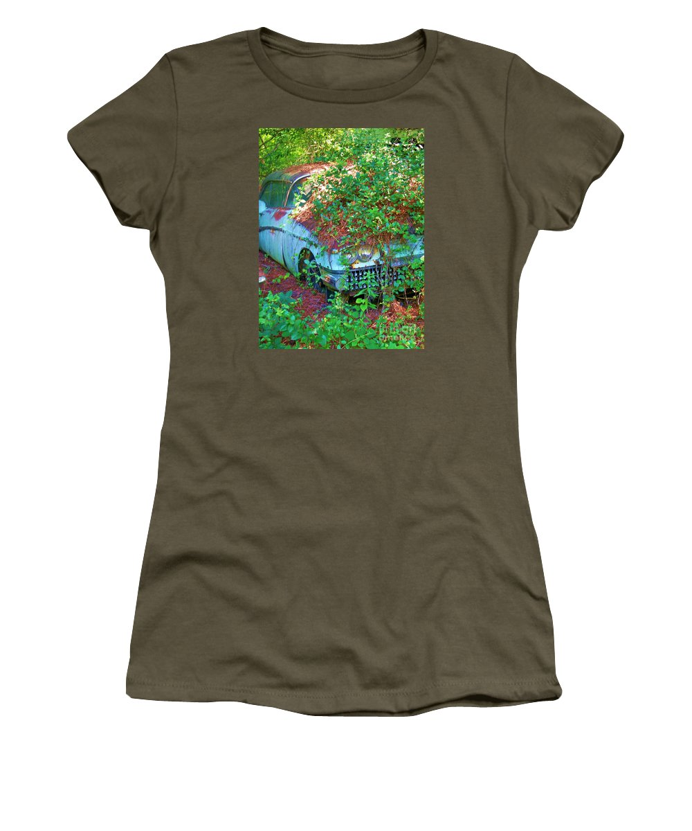 Cars Women's T-Shirt featuring the photograph Devine Two by Chuck Hicks
