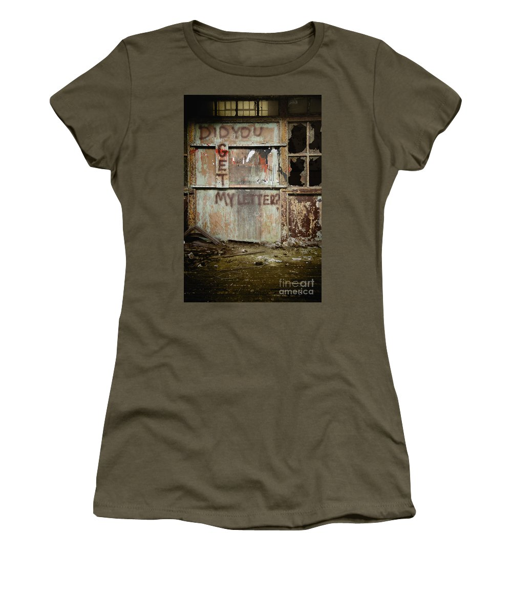 Wall Women's T-Shirt featuring the photograph Did You Get My Letter? by Margie Hurwich