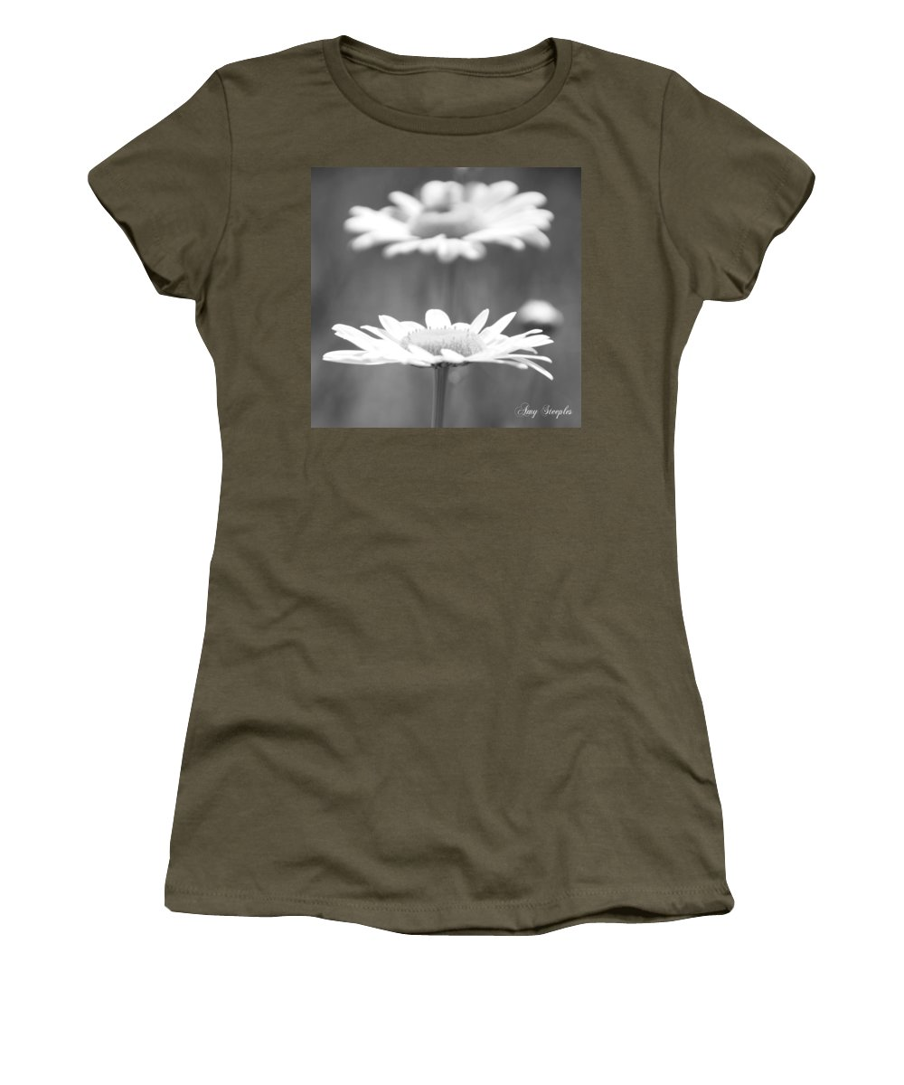 Daisy Women's T-Shirt featuring the photograph Double Take by Amy Steeples