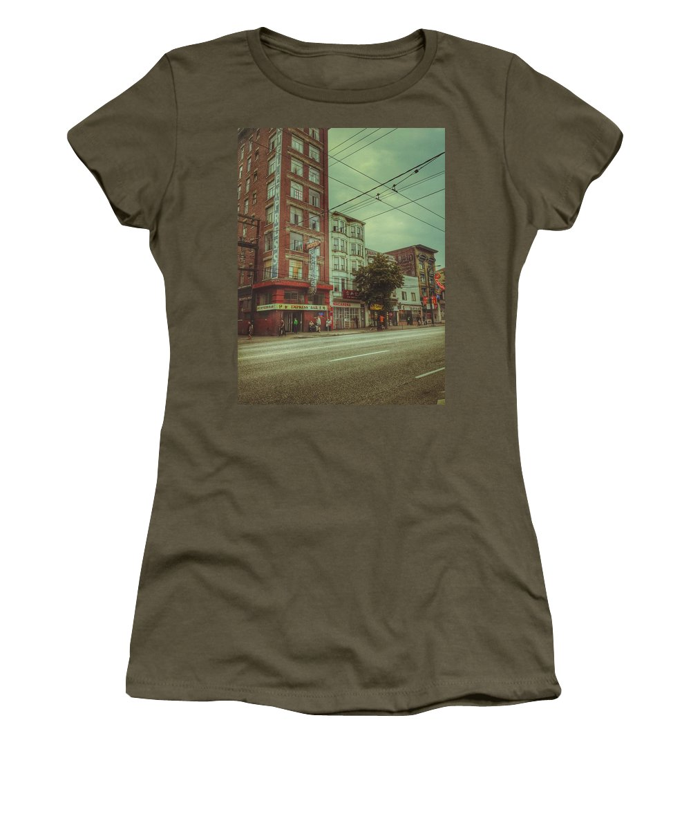Street Women's T-Shirt featuring the photograph Down Hastings by The Artist Project