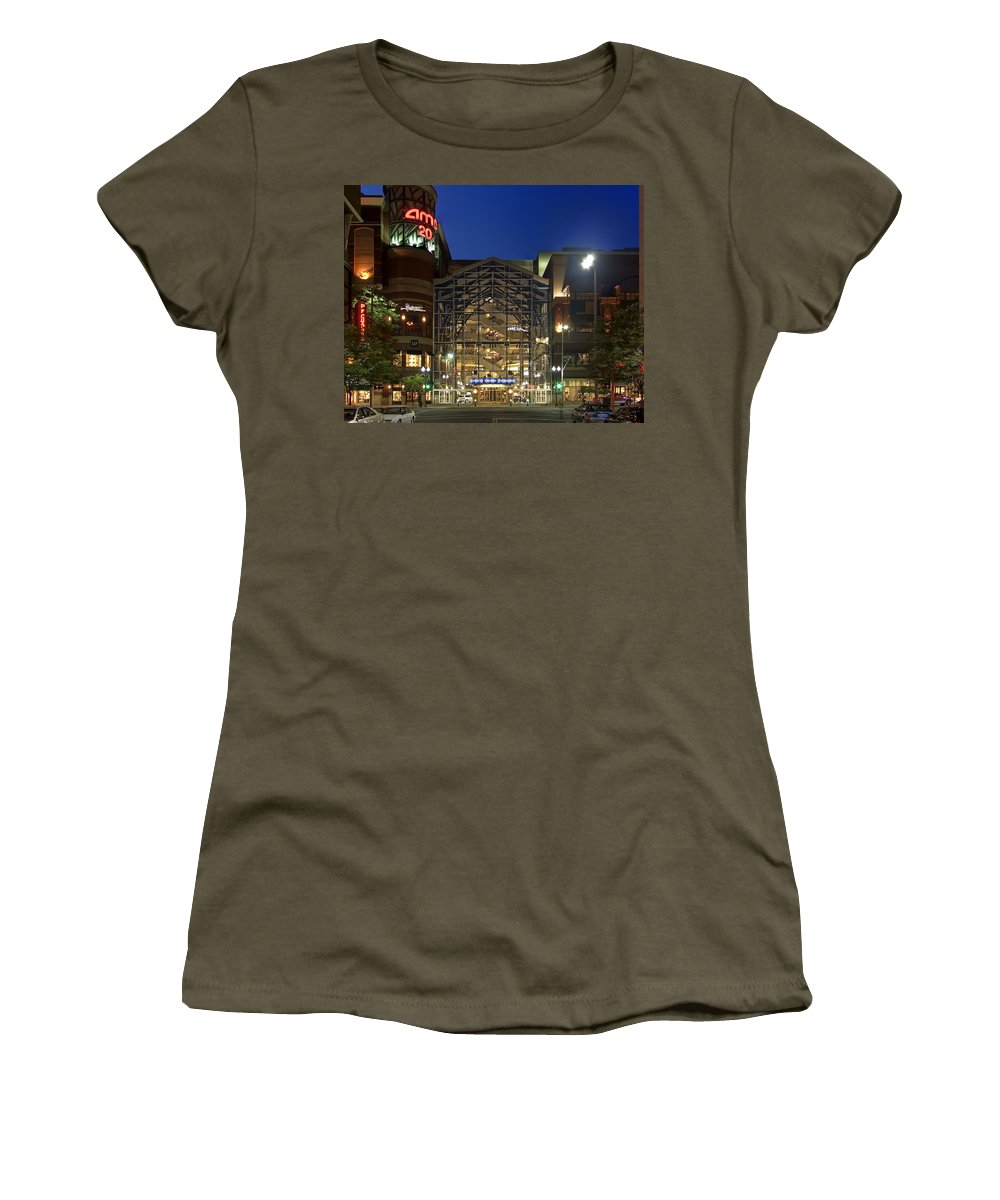 riverpark Square Women's T-Shirt featuring the photograph Downtown Spokane Washington by Daniel Hagerman