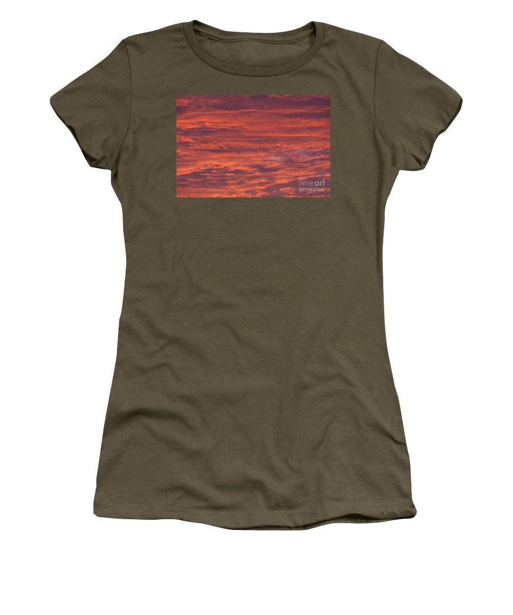 Sunset Women's T-Shirt featuring the photograph Dramatic Red Sky by Shaun Wilkinson