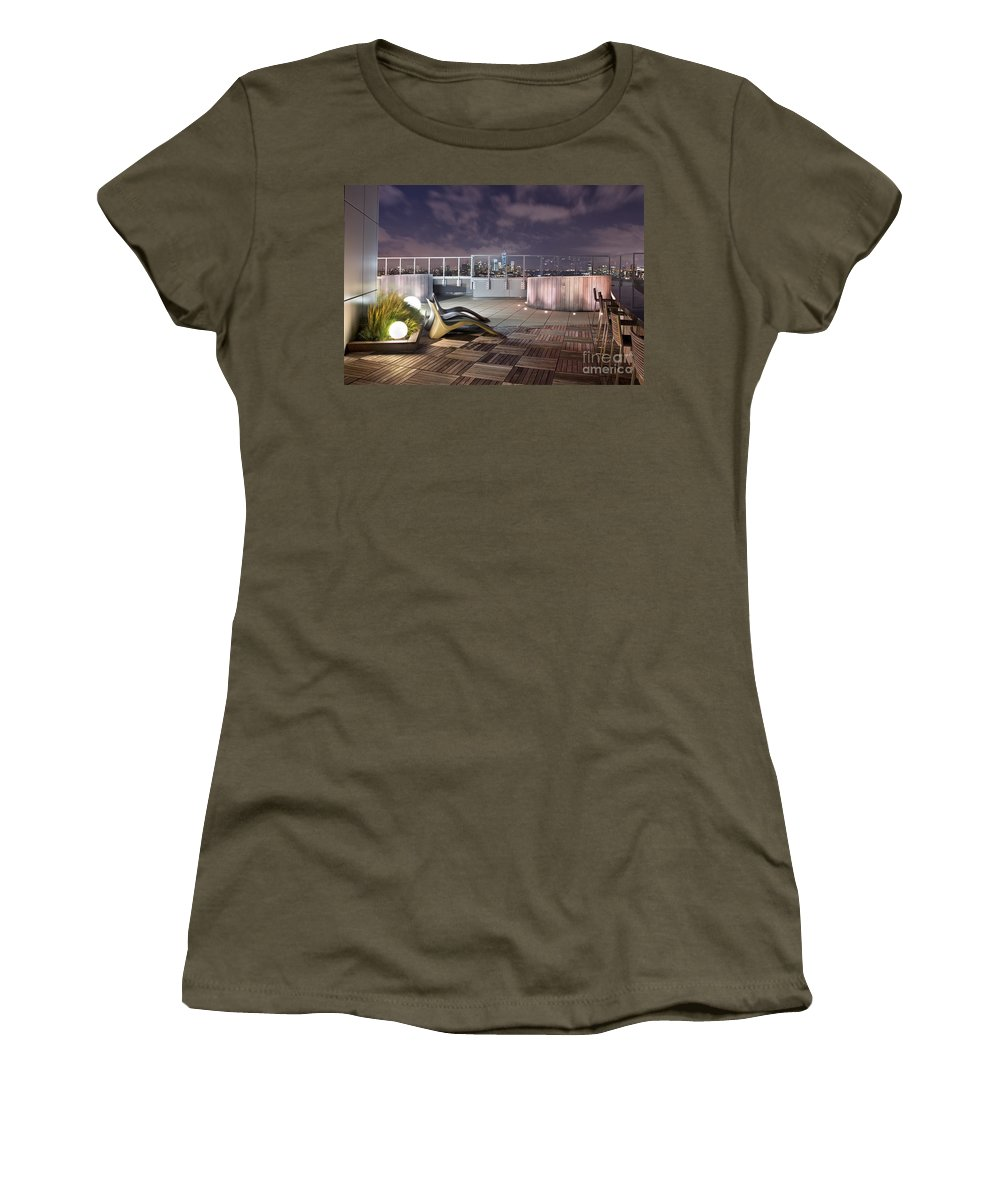 Roof Women's T-Shirt featuring the photograph Dream On Until Tomorrow by Evelina Kremsdorf