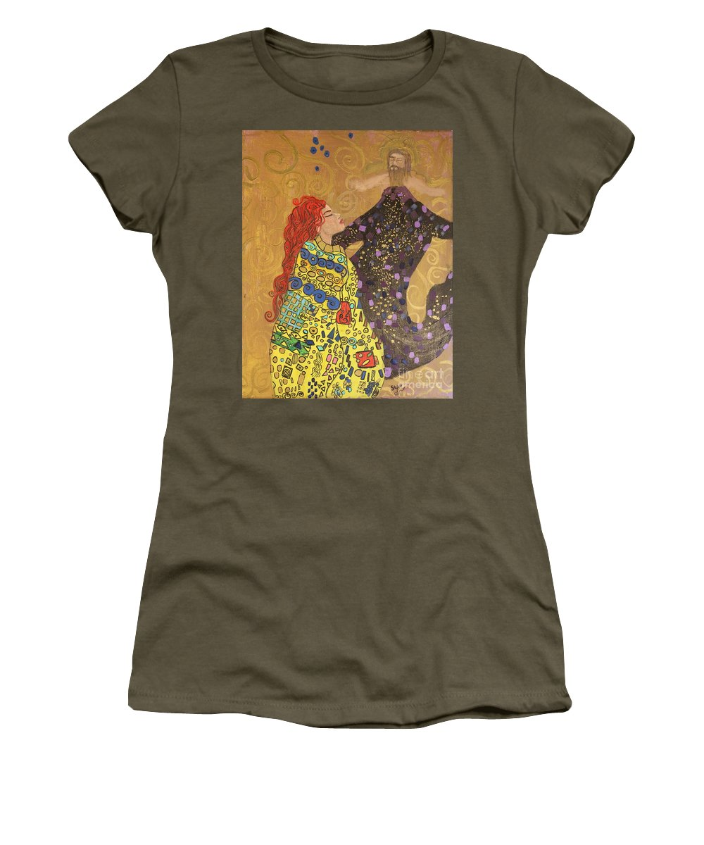 Impressionism Women's T-Shirt featuring the painting Dreams Of My Lord by Stefan Duncan