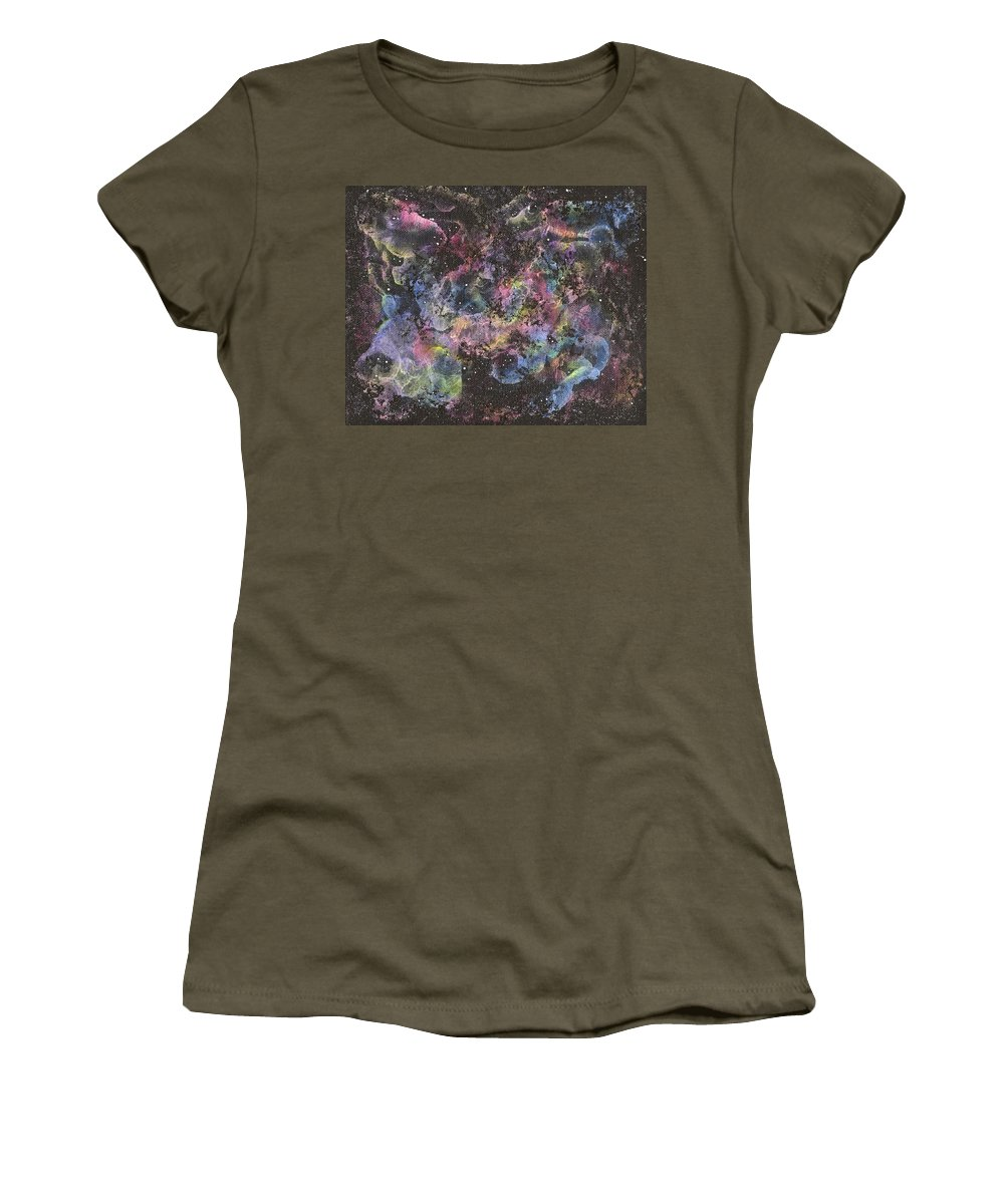 Universe Women's T-Shirt featuring the painting Dreamscape 5 by Wendy Anderson