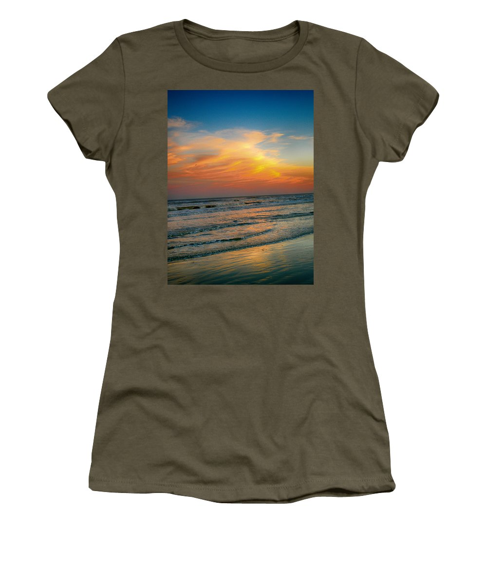 Sunset Women's T-Shirt featuring the photograph Dreamy Texas Sunset by Kristina Deane