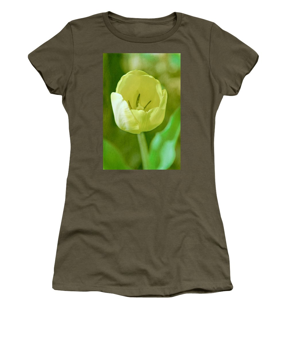 Denyse Duhaime Photography Women's T-Shirt featuring the photograph Dreamy Tulip by Denyse Duhaime