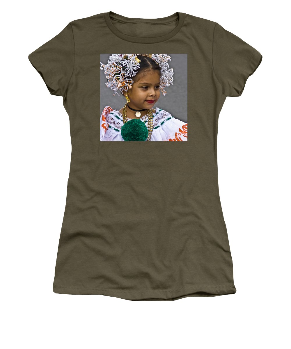 Girl Women's T-Shirt featuring the photograph Dressed For Festivity by Heiko Koehrer-Wagner