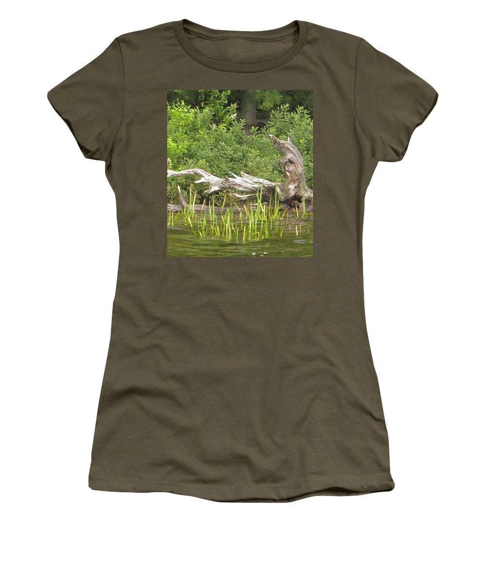 Manitoulin Women's T-Shirt featuring the photograph Driftwood by Ian MacDonald