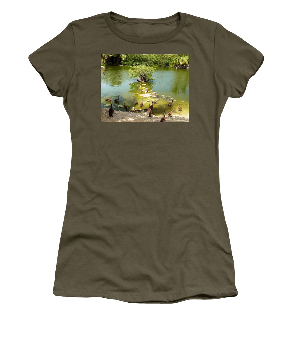 Color Women's T-Shirt featuring the photograph Duck Island by Amar Sheow