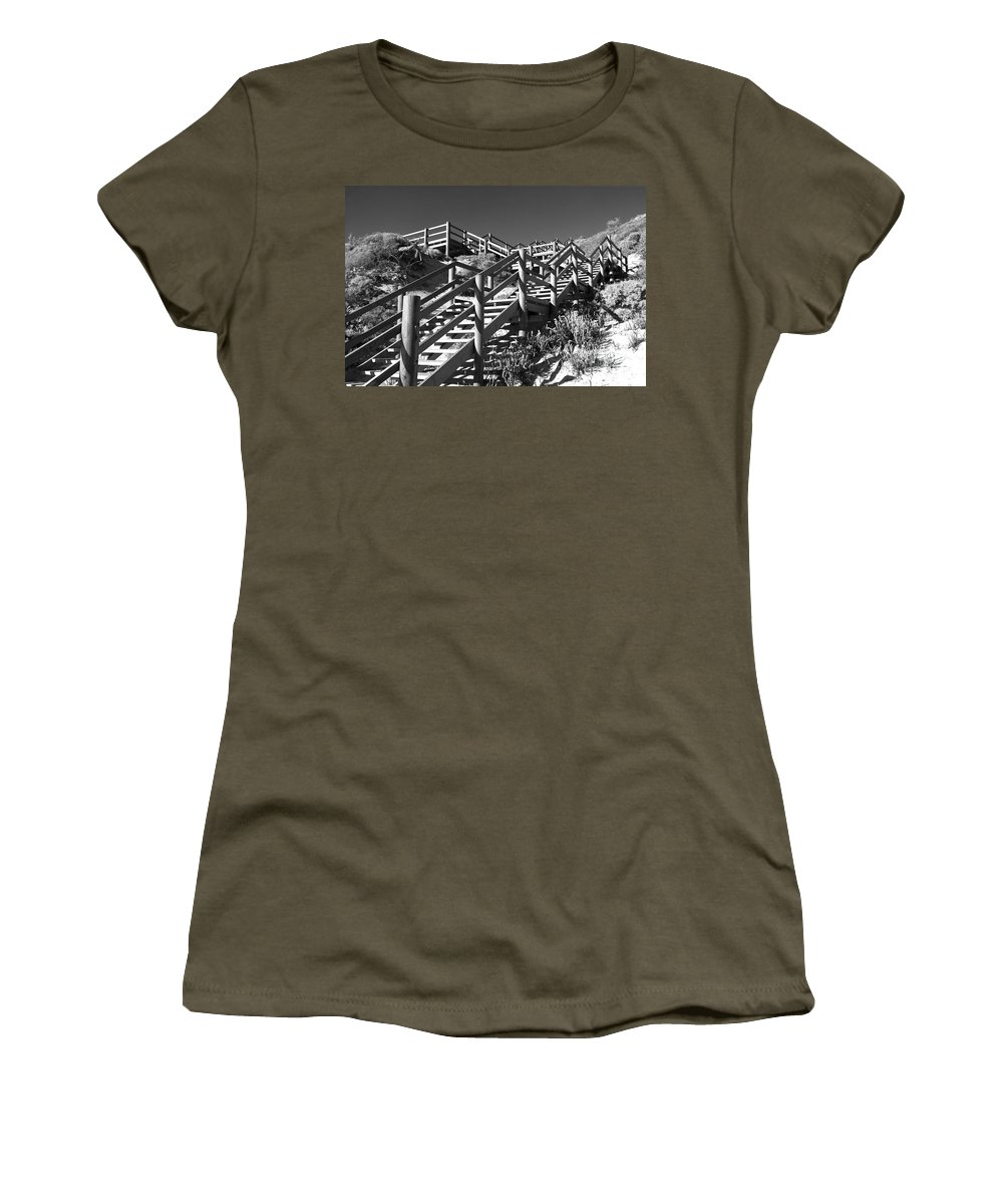 Australia Women's T-Shirt featuring the photograph Dune Steps 04 by Rick Piper Photography