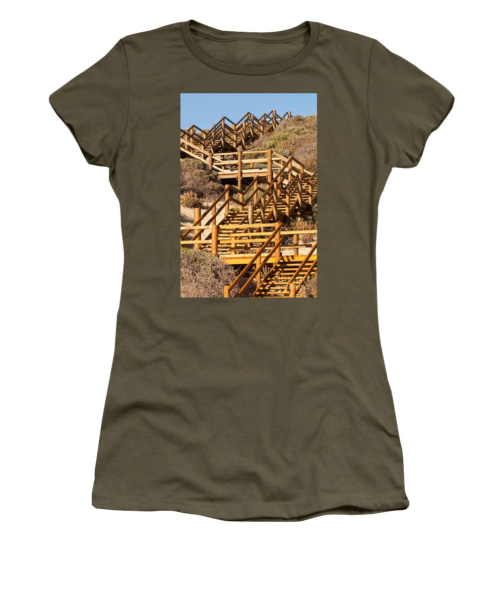 Australia Women's T-Shirt featuring the photograph Dune Steps 06 by Rick Piper Photography