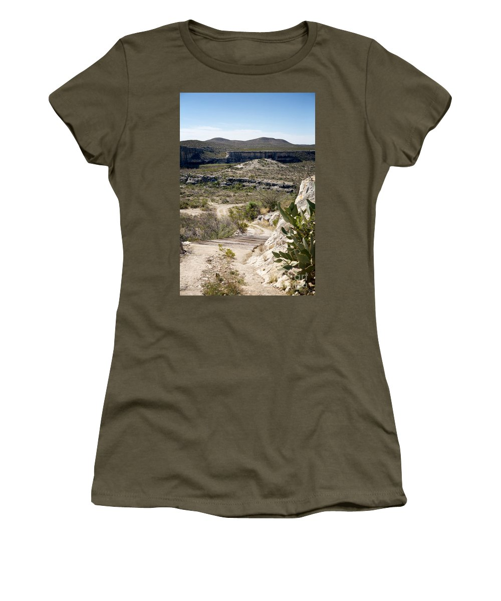 Eagle Nest Canyon Women's T-Shirt featuring the photograph Eagle Nest Canyon by Erika Weber