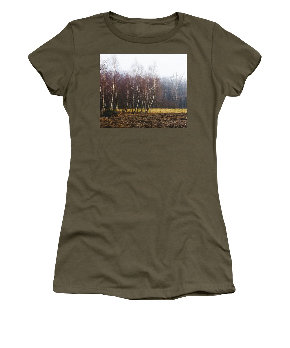 Winter Women's T-Shirt featuring the photograph Edge Of The Forest by Pati Photography
