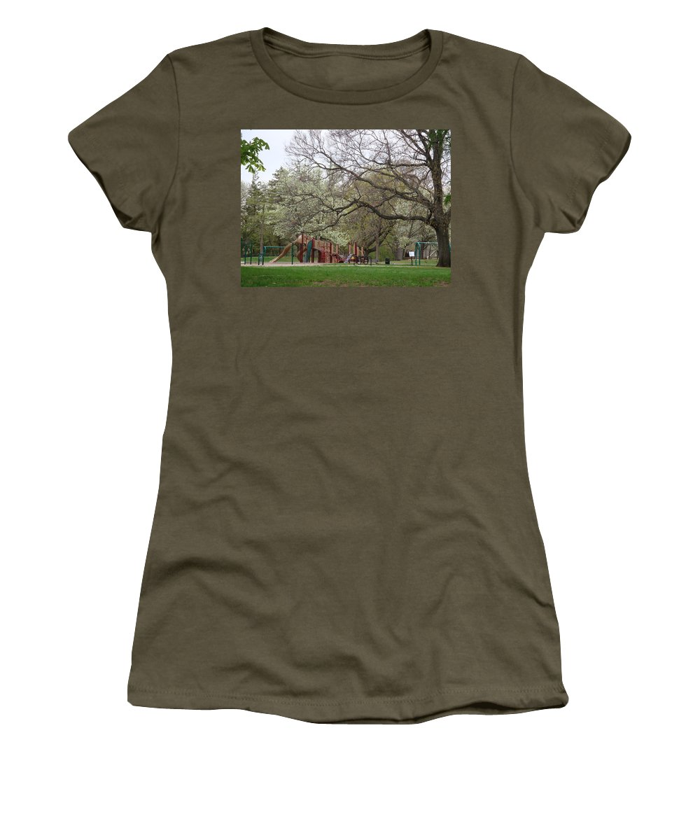 Park Women's T-Shirt (Athletic Fit) featuring the photograph Edgewood Park New Haven Connecticut by Kim Chernecky
