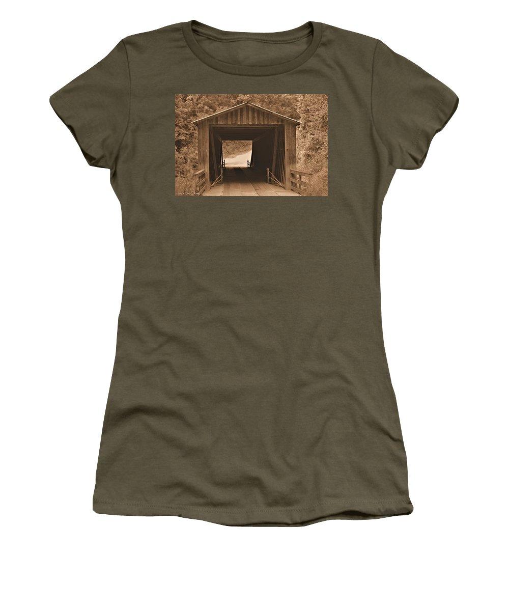 Elder Mill Covered Bridge Women's T-Shirt featuring the photograph Elder Mill Covered Bridge by Tara Potts