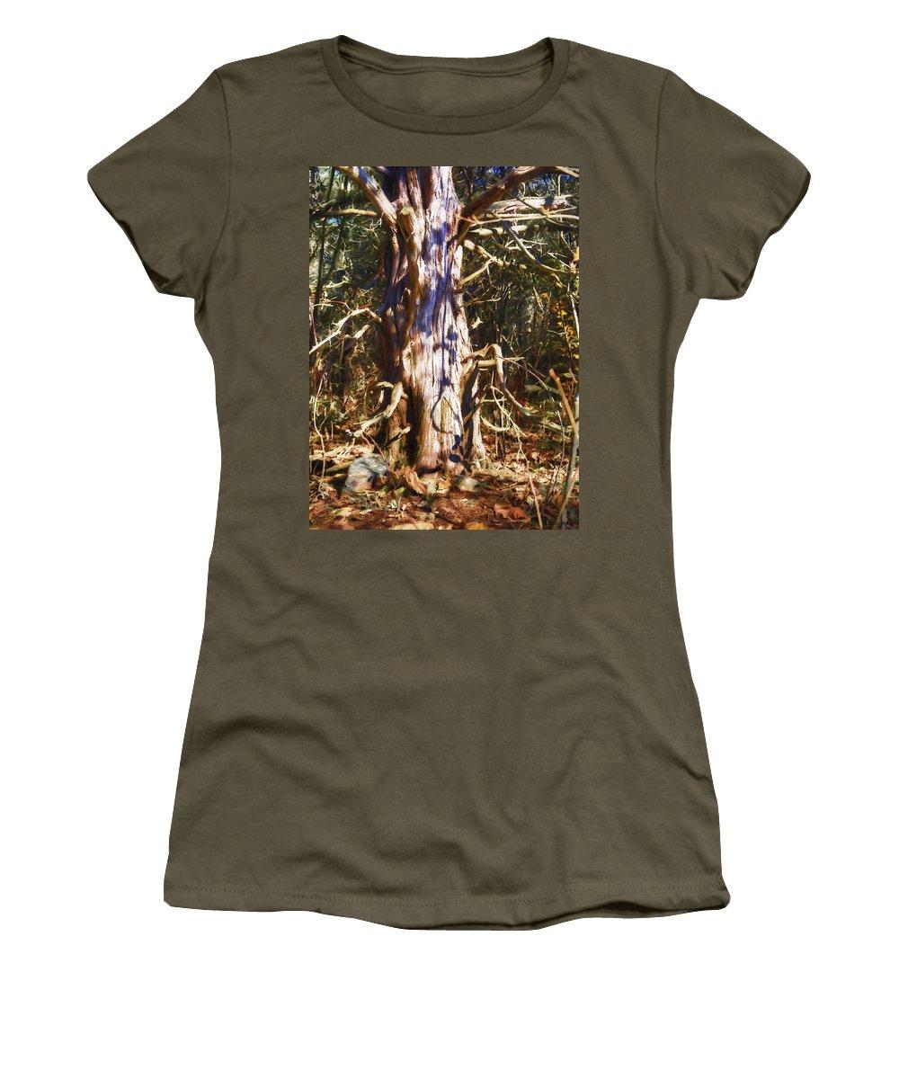 Landscape Women's T-Shirt (Athletic Fit) featuring the photograph Enfolding The Light by Jo-Anne Gazo-McKim