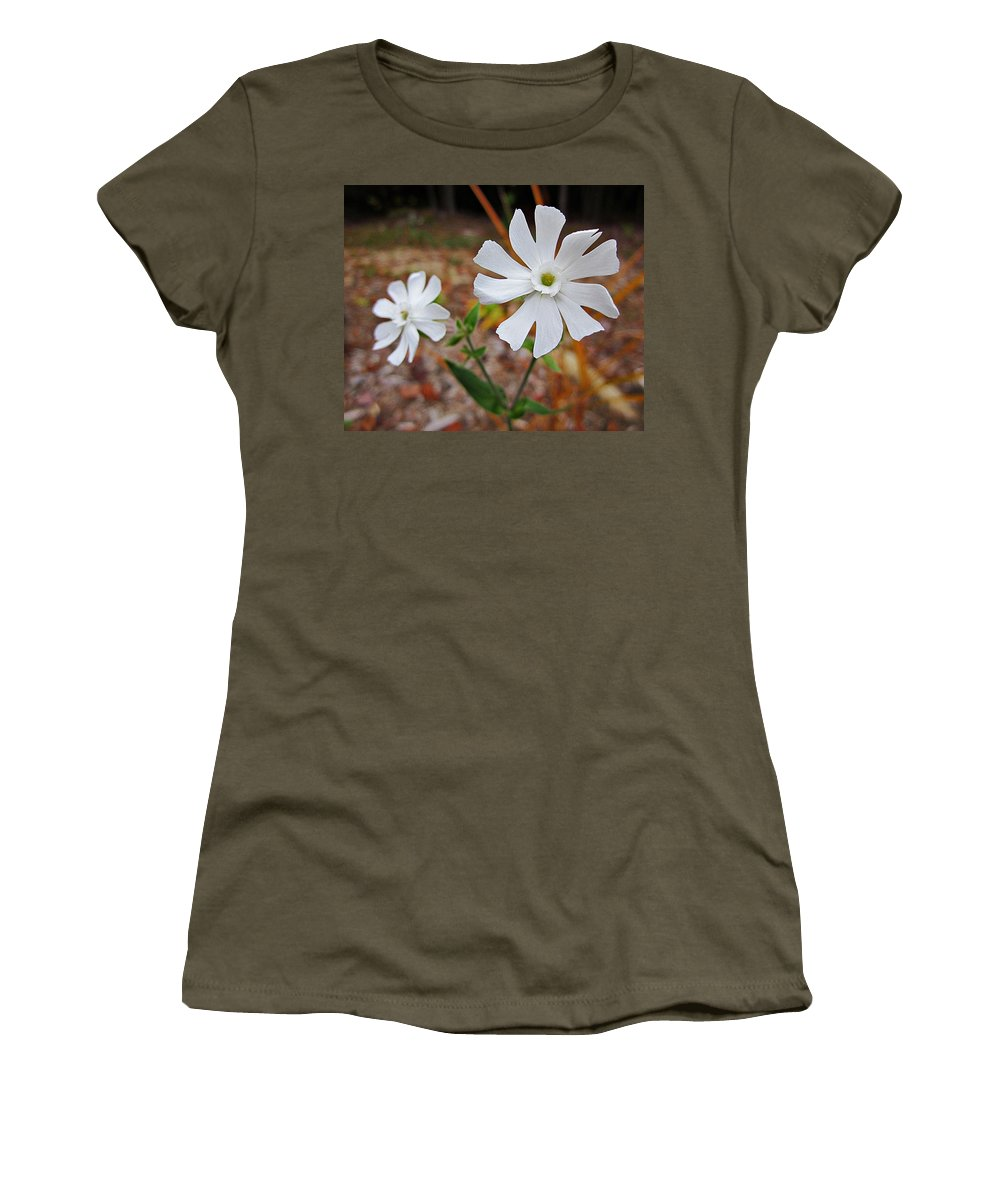 Evening Lychnis Women's T-Shirt featuring the photograph Evening Lychnis by MTBobbins Photography