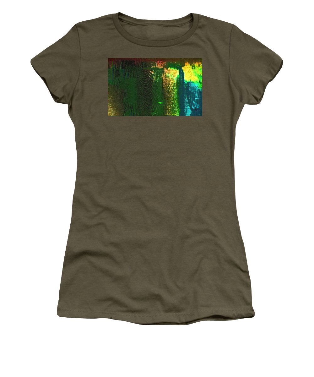 Abstract Women's T-Shirt featuring the photograph Experiencing Technical Difficulties 2 by Lenore Senior