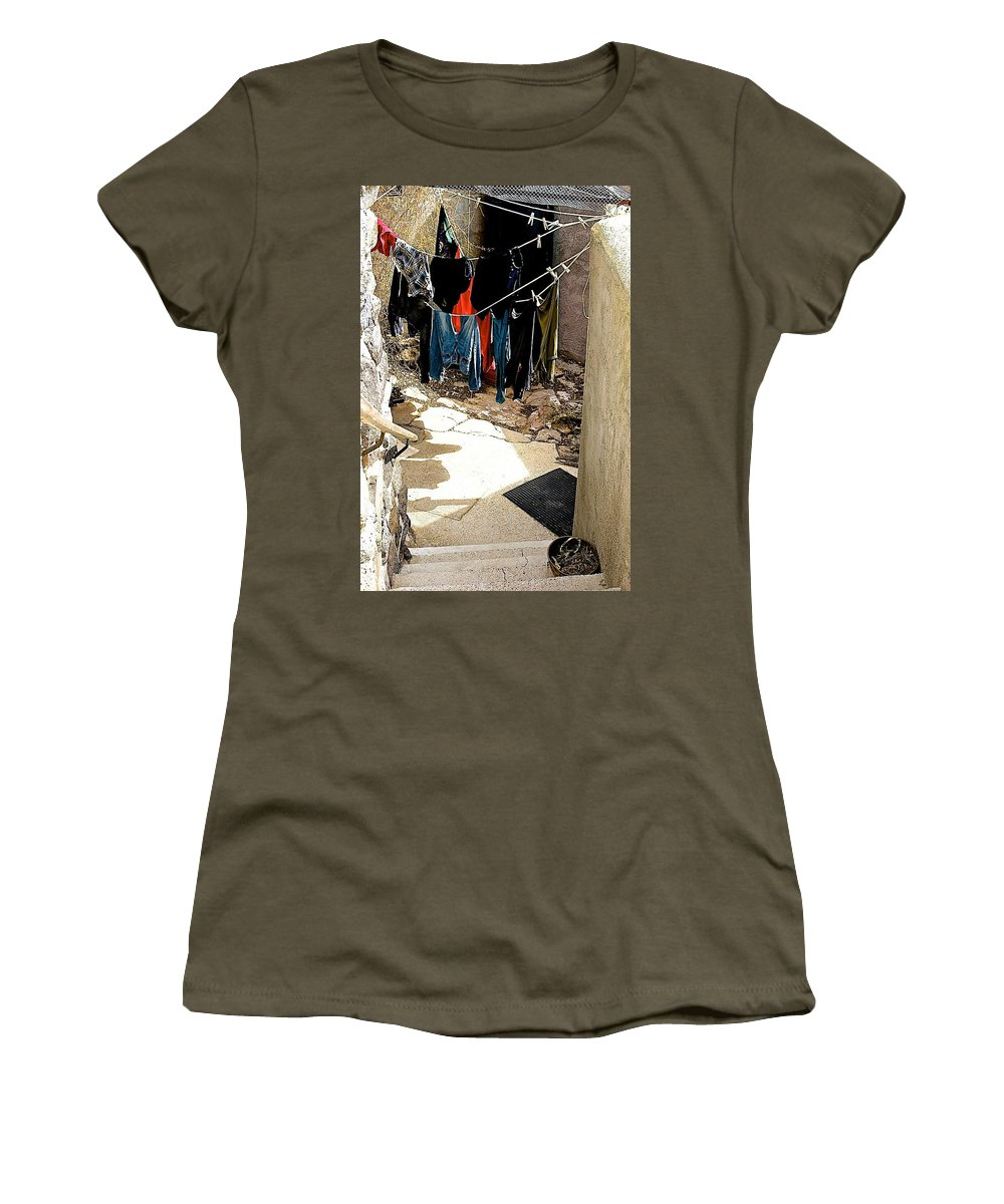 Arcosanti Women's T-Shirt featuring the photograph Experimental Living by Barbara Zahno