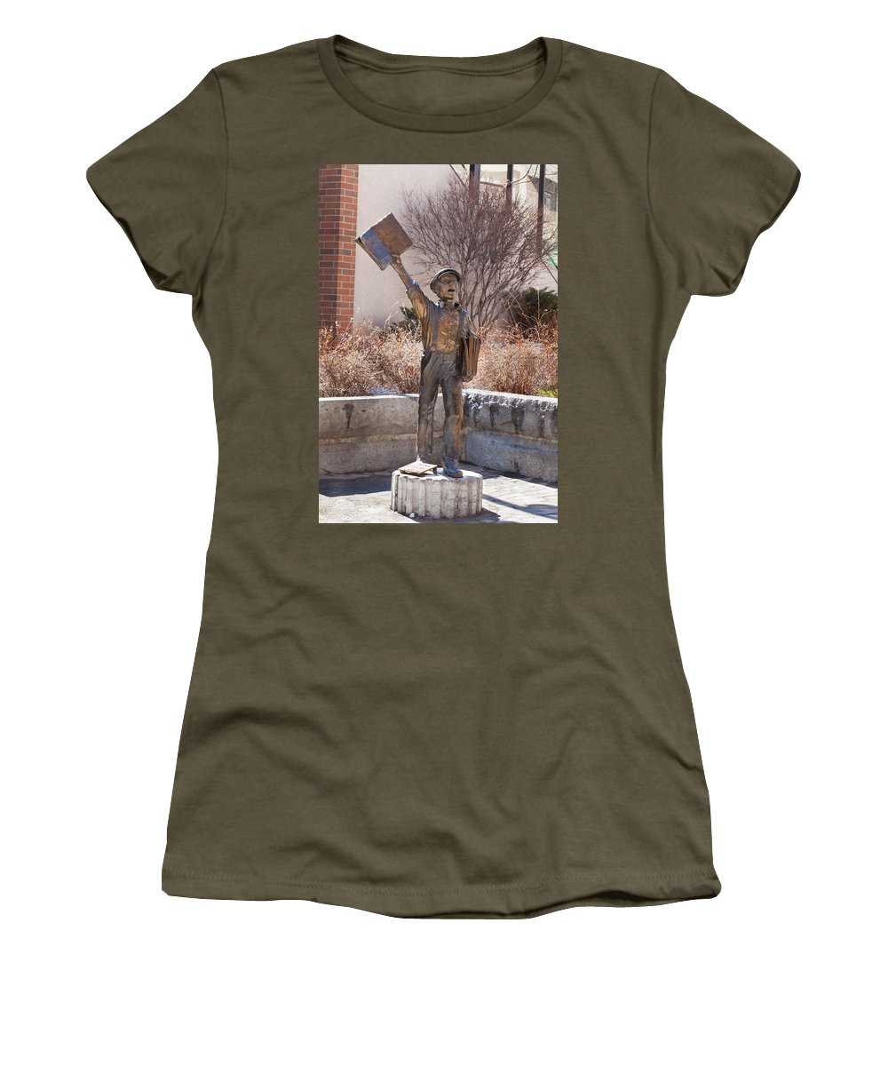 Extra Women's T-Shirt featuring the photograph Extra Extra by Fran Riley