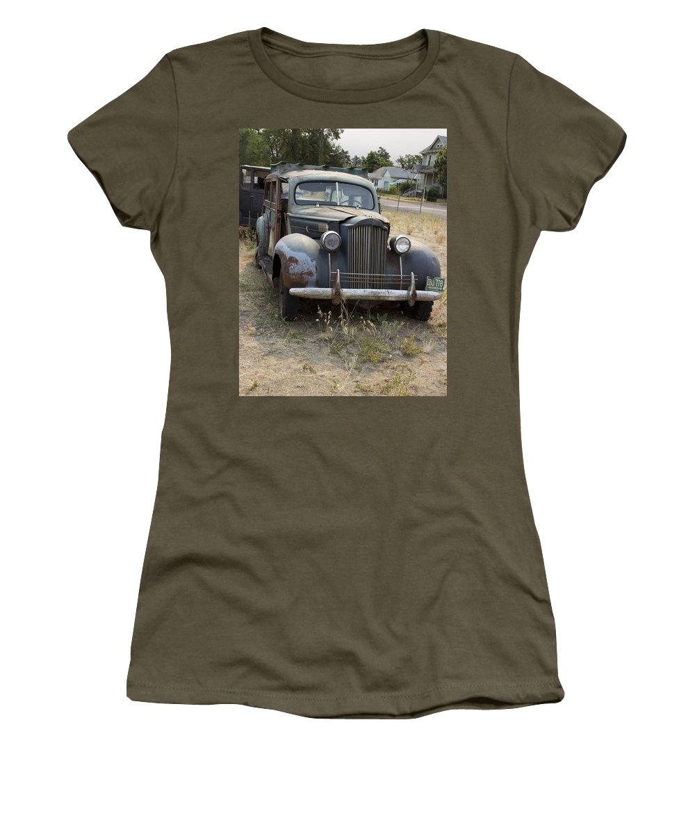 Women's T-Shirt featuring the photograph Fabulous Vintage Car by Cathy Anderson