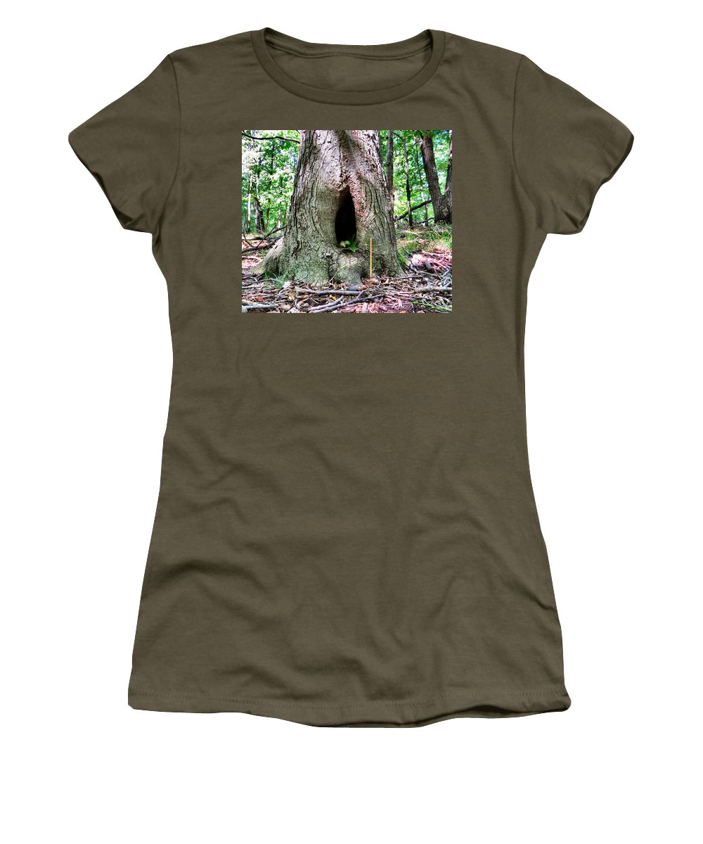 Forest Women's T-Shirt featuring the photograph Fairy Blessings by Art Dingo