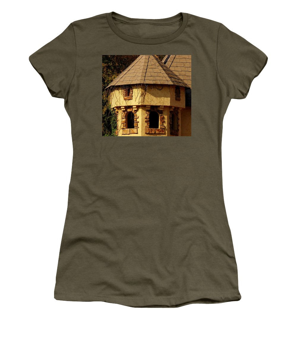 Castle Women's T-Shirt featuring the photograph Fairytale Castle by Rodney Lee Williams