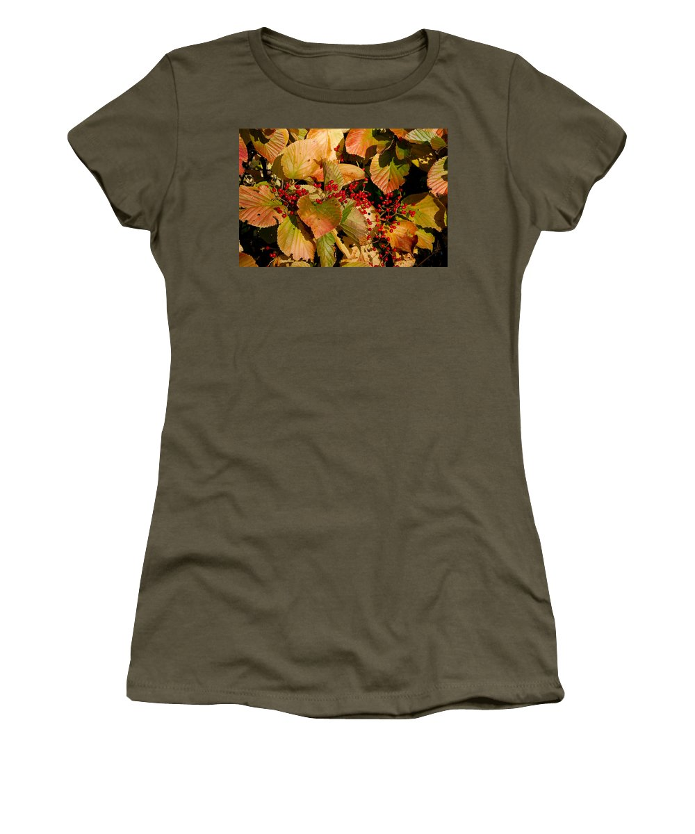 Fall Women's T-Shirt featuring the photograph Fall Berries by Larry Jost