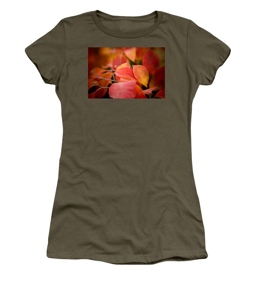 Color Women's T-Shirt (Athletic Fit) featuring the photograph Fall Colors 6675 by Timothy Bischoff