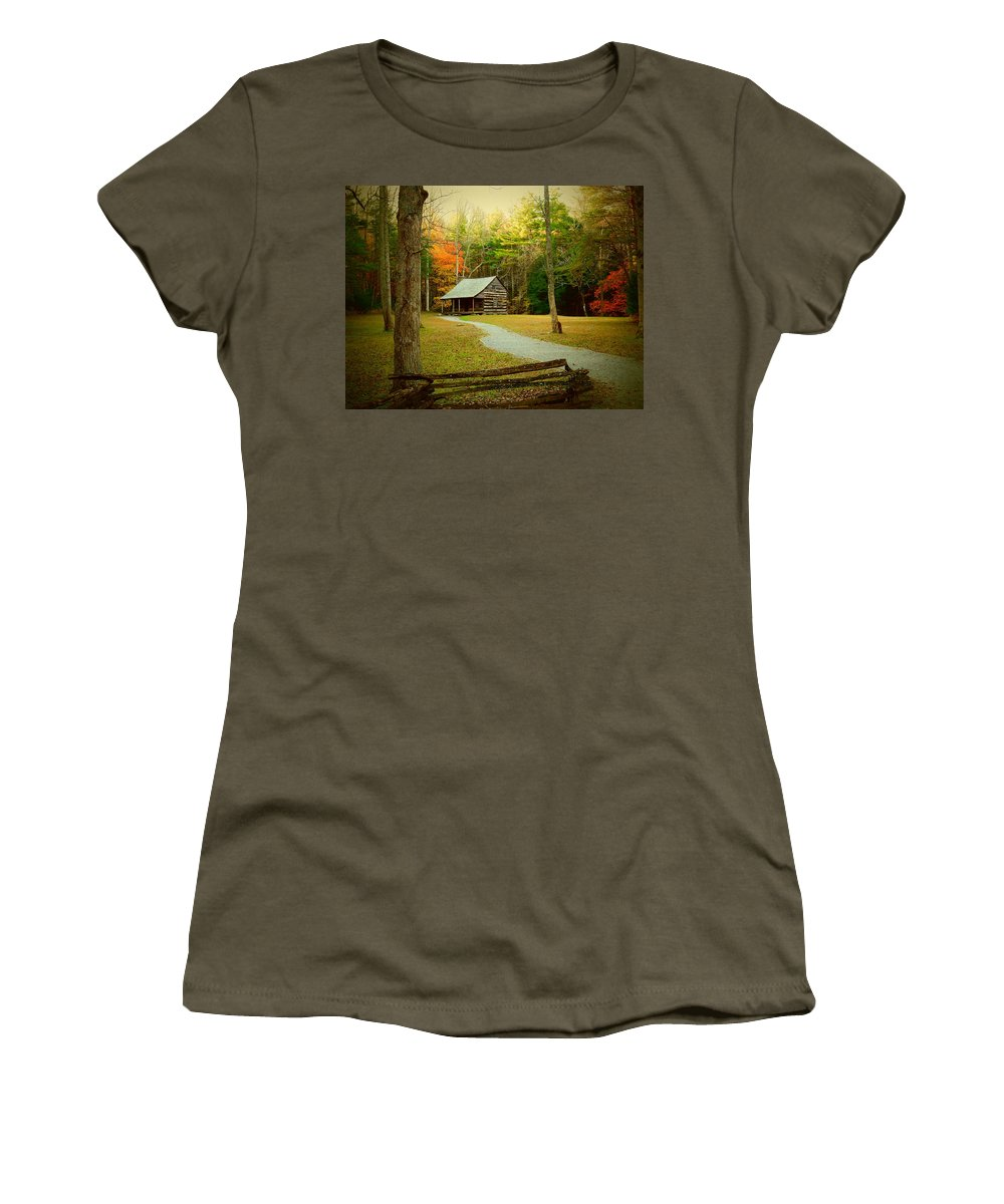 Landscape Women's T-Shirt featuring the photograph Fall Color's by Kathy R Thomas