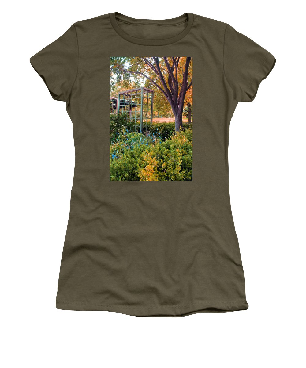 Herbs Women's T-Shirt featuring the photograph Fall Herb Garden0981 by Carolyn Stagger Cokley